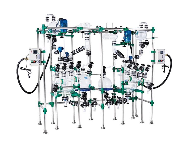 防爆组合式可移动三层玻璃反应装置